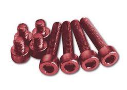 Aluschrauben Set M5 rot eloxiert
