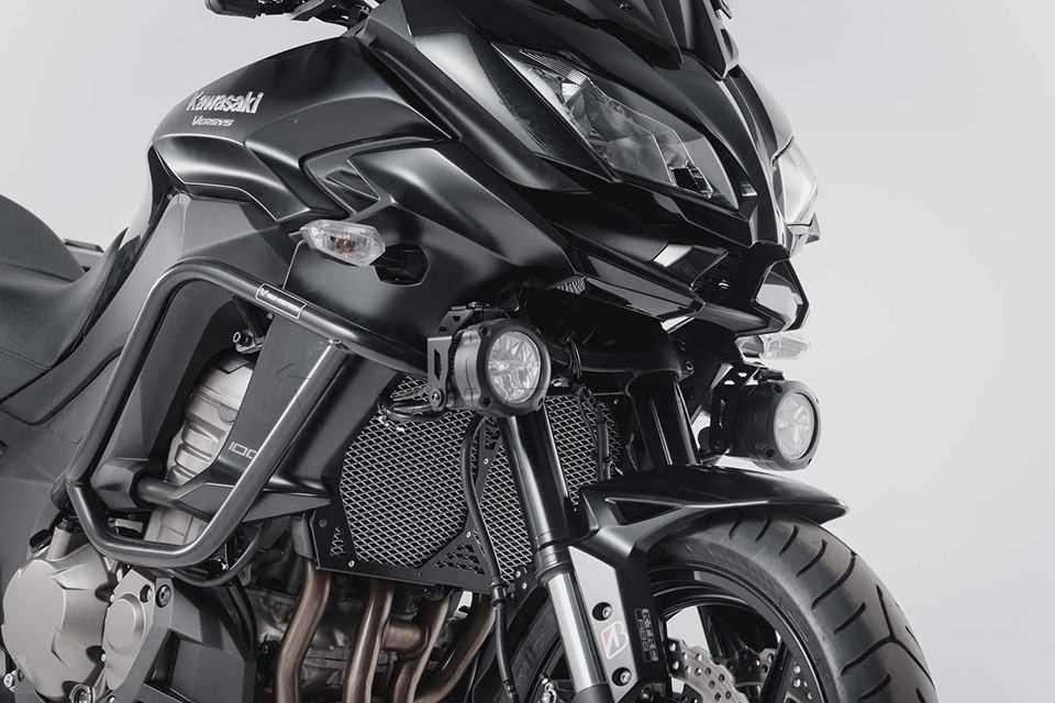 HAWK LED Nebelscheinwerfer-Set Schwarz. Kawasaki Versys 1000 (15-).