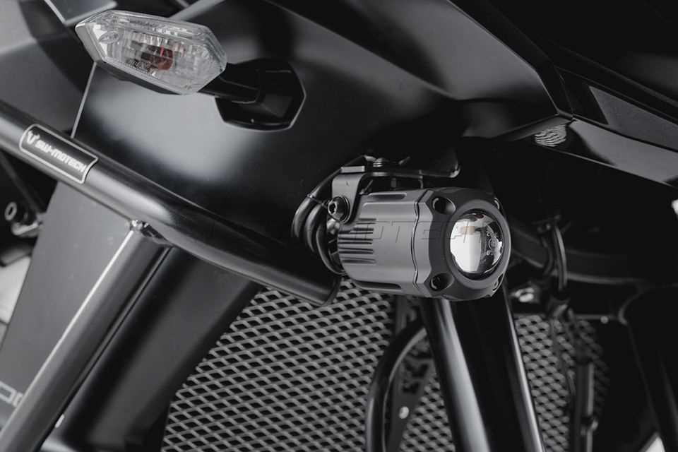 HAWK Nebelscheinwerfer-Set Schwarz. Kawasaki Versys 1000 (15-).