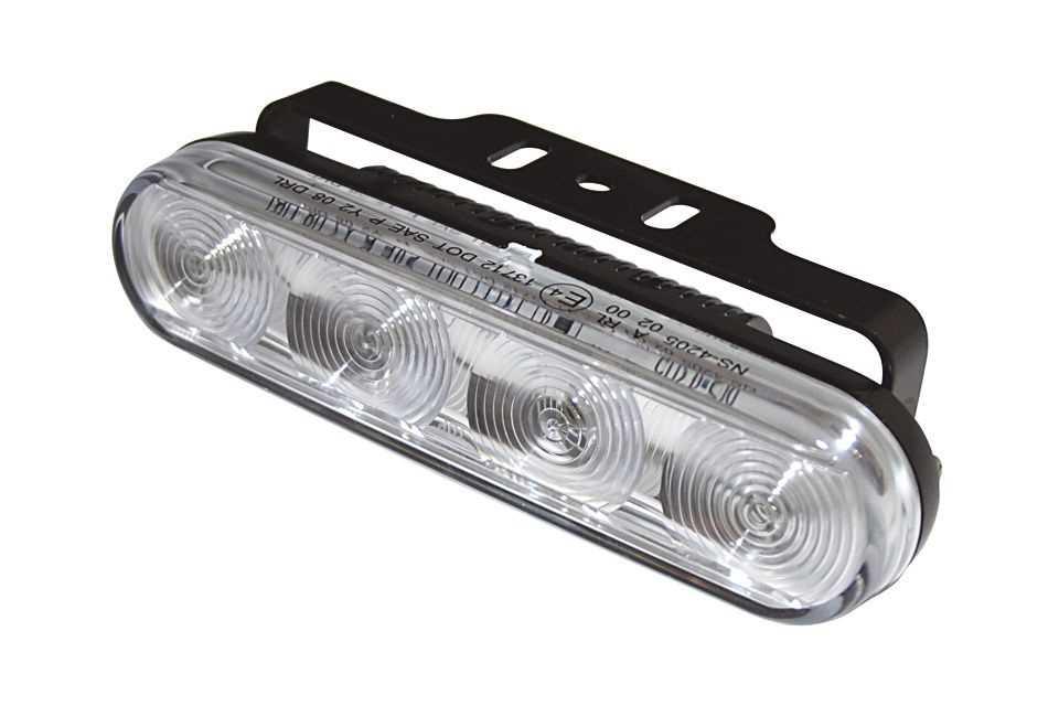 LED-Tagfahrlicht mit 4 LEDs und Standlichtfunktion