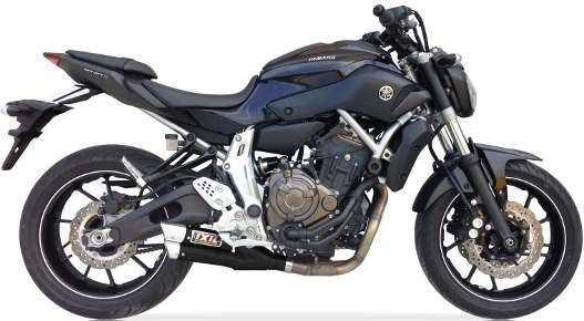 Auspuff IXIL Hyperlow black XL für Yamaha MT-07 bei Road Monkeys