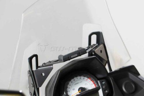 QUICK-LOCK GPS-Halter Schwarz. Kawasaki Versys 650 (15-).