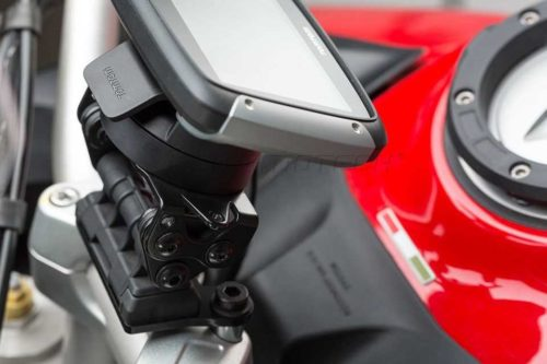 QUICK-LOCK GPS-Halter Schwarz. Ducati Multistrada 1200 (15-).