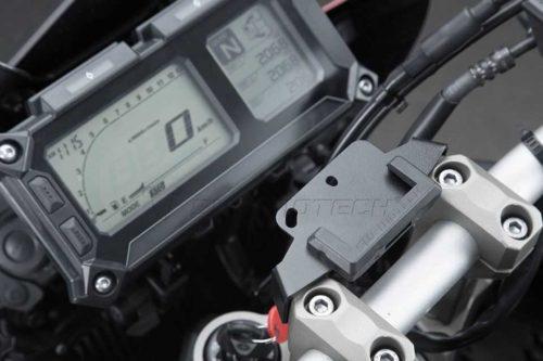 QUICK-LOCK GPS-Halter Schwarz. Vibrationsg. Yamaha MT-09 Tracer (14-).