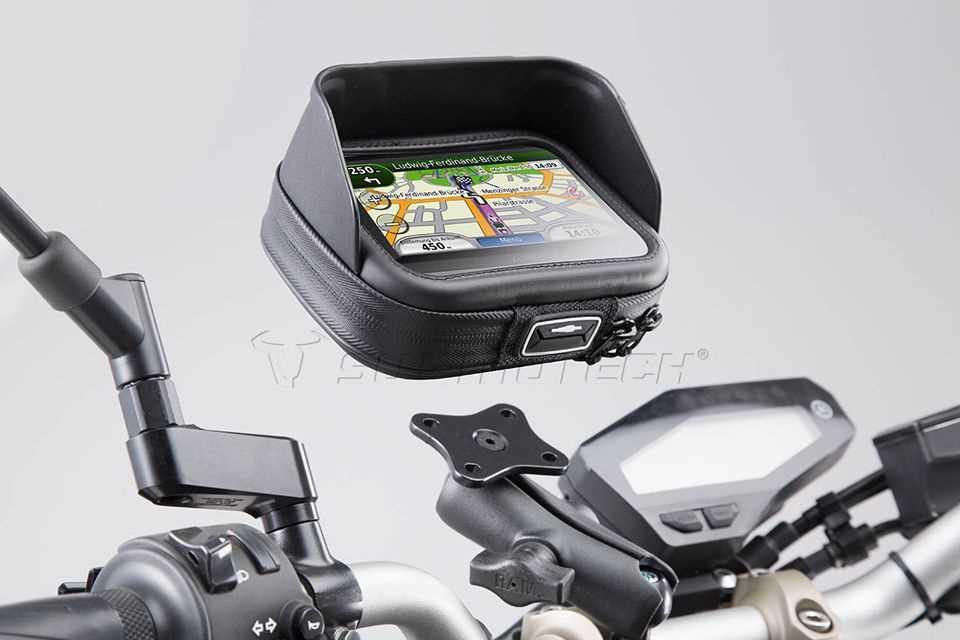 SW MOTECH Universal GPS Halter-Kit Navi Case Pro L Für Lenker Ø 22