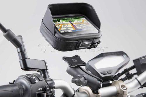 SW MOTECH Universal GPS Halter-Kit Navi Case Pro M Für Lenker Ø 22