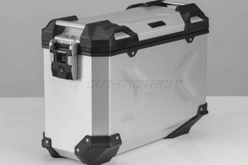 TRAX ADV Koffersystem Silber. 45/45 L. Multistrada 1200 (15-).