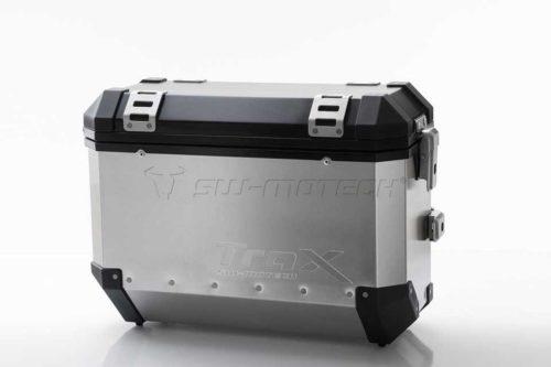TraX® EVO Koffersystem Silber. 45/45 L. Multistrada 1200 (15-).