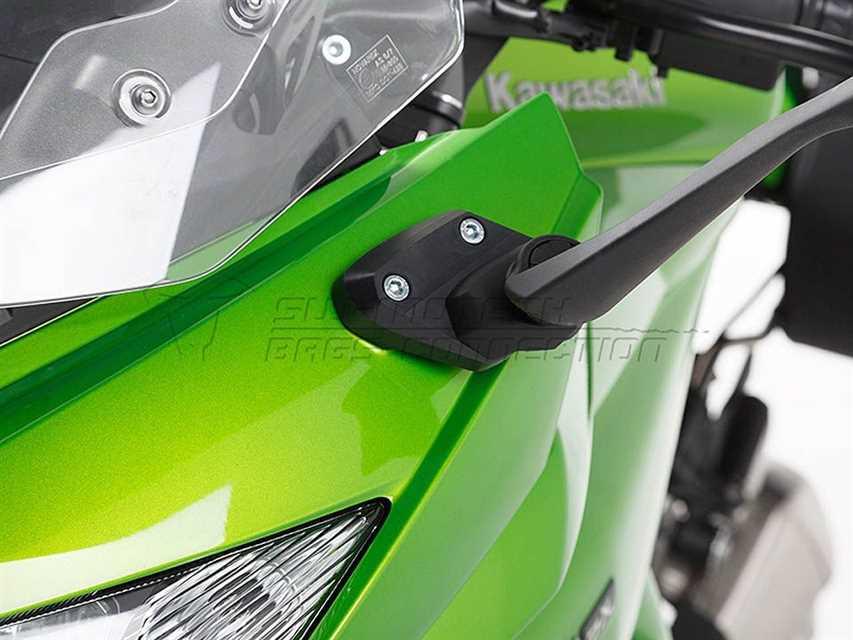 Spiegelverlängerung Kontur-Distanzstück. Schwarz. Kawasaki Z 1000 SX (14-).
