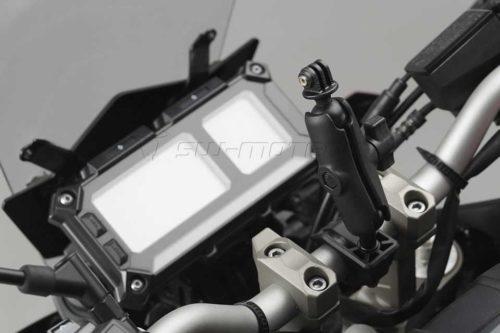 Universal Kit RAM Arm mit Adapter für GoPro Kamera Schwarz. Für Lenker Ø 22