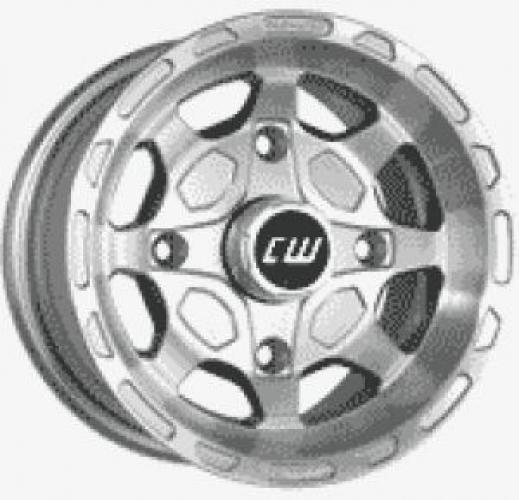 1 Satz CW Alu Felgen silber-poliert mit Teilegutachten f. King Quad + Grizzly 660
